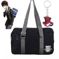 Persona 5 Anime Backpack Cosplay Props Canvas Messenger Bag Joker Panther Keychain School Bag Akira Kurusu Accessories