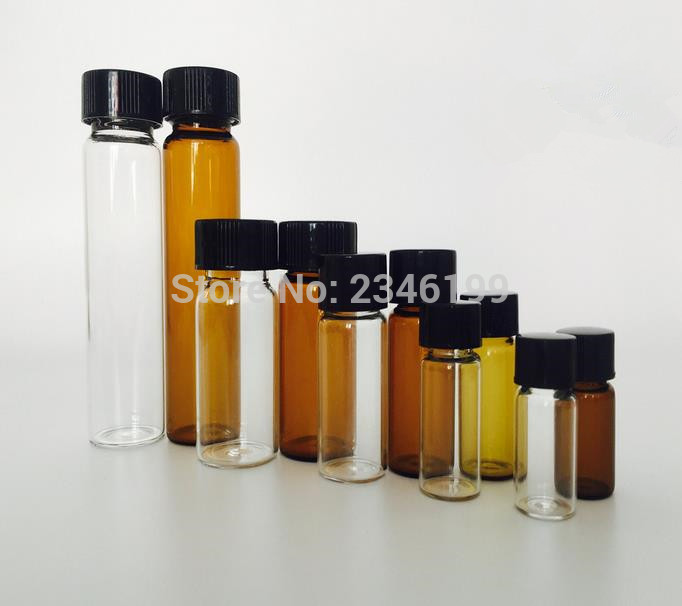 <font><b>20ML</b></font> 30ML 40ML 60ML 50pcs/lot Amber <font><b>Glass</b></font> <font><b>Bottles</b></font> <font><b>With</b></font> <font><b>Screw</b></font> <font><b>Cap</b></font> Antibiotic <font><b>Vials</b></font> Medical Liquid Leakproof Packing <font><b>Bottles</b></font> image