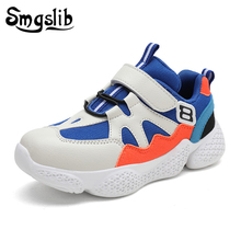 Kids Sports Shoes Girls Child Sneakers 2019 Spring Autumn Boys Running Shoes Baby Pu Leather White Shoes Children Mesh Sneakers цена