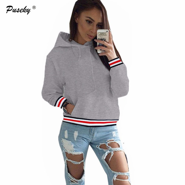 Autumn Winter Fashion Casual Women Sweatshirt for Women Solid pullover  Hoodie Pullovers Long-Sleeved Hooded Sweatshirt plus size cf4afbd9e8