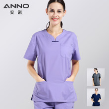 5e6cfdc9e6d Elasticity Cotton Spandex Body Nurse Uniform Medical Nursing Scrubs For  Women Hospital Suit Set Work Wear