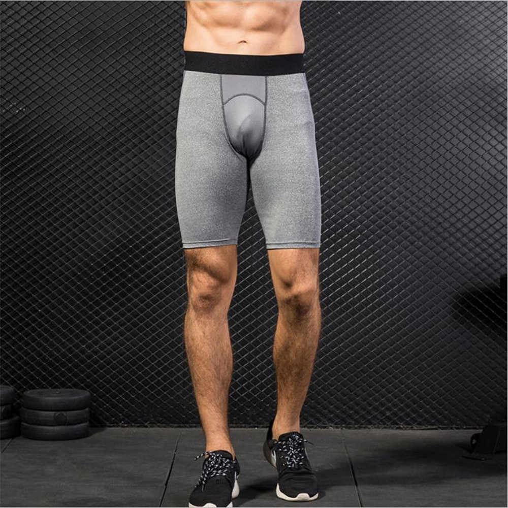 2018 Men Sport Short Pants Tight Trainning Exercise Pants Mesh Running Quick Dry Flexible Pants Gym Artistic Sport Fitness Tight
