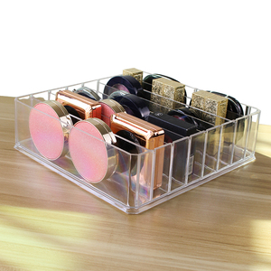 HUNYOO Plastic PS Makeup Organizer Cream Storage Box Clarity Cosmetic Makeup Holder Vanity Cabinet Powder Display Shelf(China)