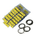 0.7mm  750pcs 16mm-30mm  O Ring Rubber Seal Washers Waterproof Round Watch Gaskets