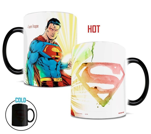 superman magic coffee mug cups color changing tea milk mugs Heat Reactive Mugs gift Coffee Cup Mug