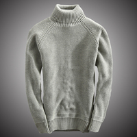 Turtleneck Knit Sweater Men Cotton Slim Fit Pullover Winter Thick Knitwear Sweater Korean Style Men Clothes 2018 WY122