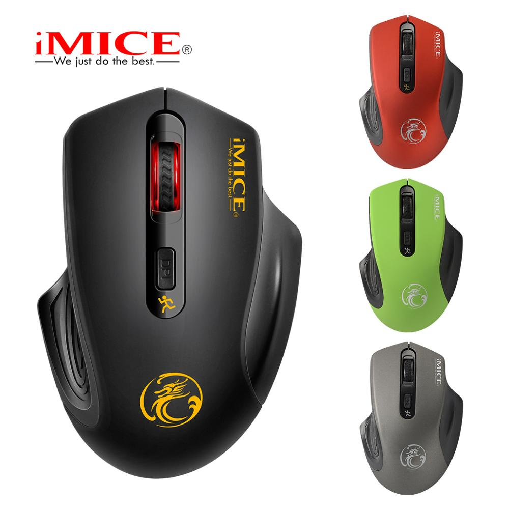 iMICE E 1800 Wireless mouse 2000DPI Adjustable USB 3.0 Receiver Optical Computer Mouse 2.4GHz Ergonomic Mice For Laptop PC Mouse-in Mice from Computer & Office