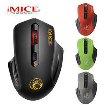 лучшая цена iMICE E-1800 Wireless mouse 2000DPI Adjustable USB 3.0 Receiver Optical Computer Mouse 2.4GHz Ergonomic Mice For Laptop PC Mouse
