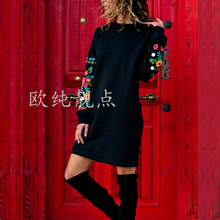 2019 fashion Floral Embroidery autumn women mini dress long sleeve plus size 3xl vestidos vintage casual office work new clothes