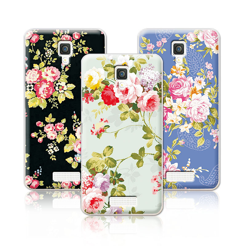 2016 luxury floral painted case for lenovo a1000 a 1000 cover art printed flower casefor lenovo a1000 casefree stylus pen - 1000 Free Prints