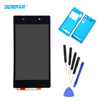 Black For Sony Xperia Z2 L50W D6502 D6503 LCD Display Screen Touch Panel Digitizer Full Assembly