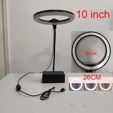 Photo Studio LED Ring Light 10 Dimmable Selfie Fill light for youtube 3200-5500K Photo Video Lamp with Hose C-Type Clamp photo studio 18 led ring light dimmable photographic lighting 2700 5500k 48w 480pcs led selfie video light with display screen