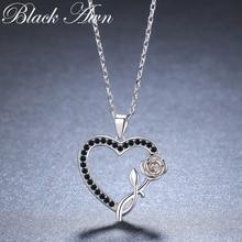 2019 New Heart Flower Romantic 925 Sterling Silver Fine Jewelry Trendy Flower Engagement necklaces & pendants for Women KK008