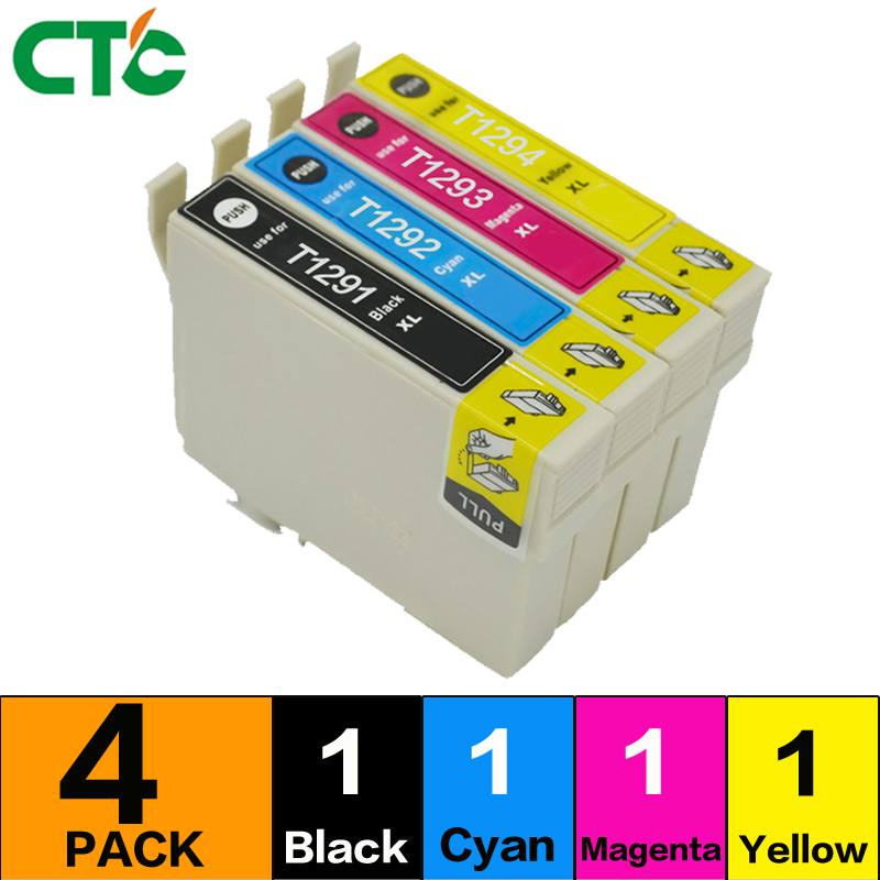 1set Compatible T1291 T1294 T129 E-1291 Ink cartridges for Stylus SX235W SX-235W SX 235W printer inkjet cartridge