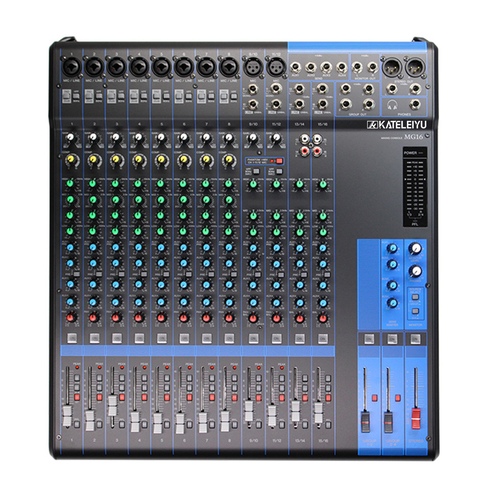 MG16 Professional DJ Mixer Stage Conference Simulation Small Performance Conference