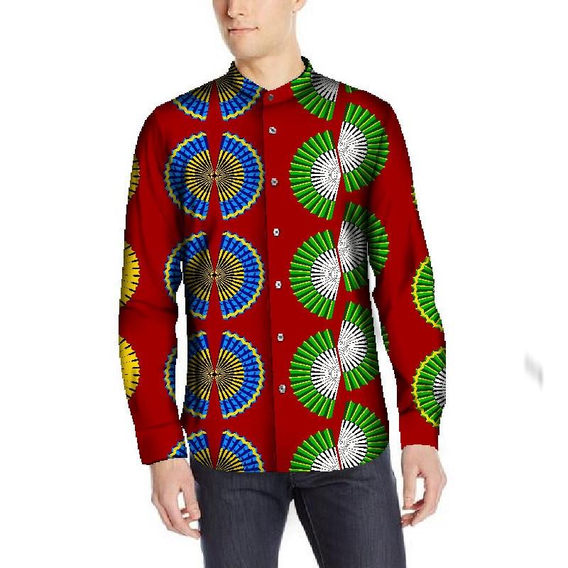 Vêtements africains pour hommes haute qualité à manches longues chemise hommes personnalisé vêtements africains décontracté africain Dashiki hommes imprimer vêtements
