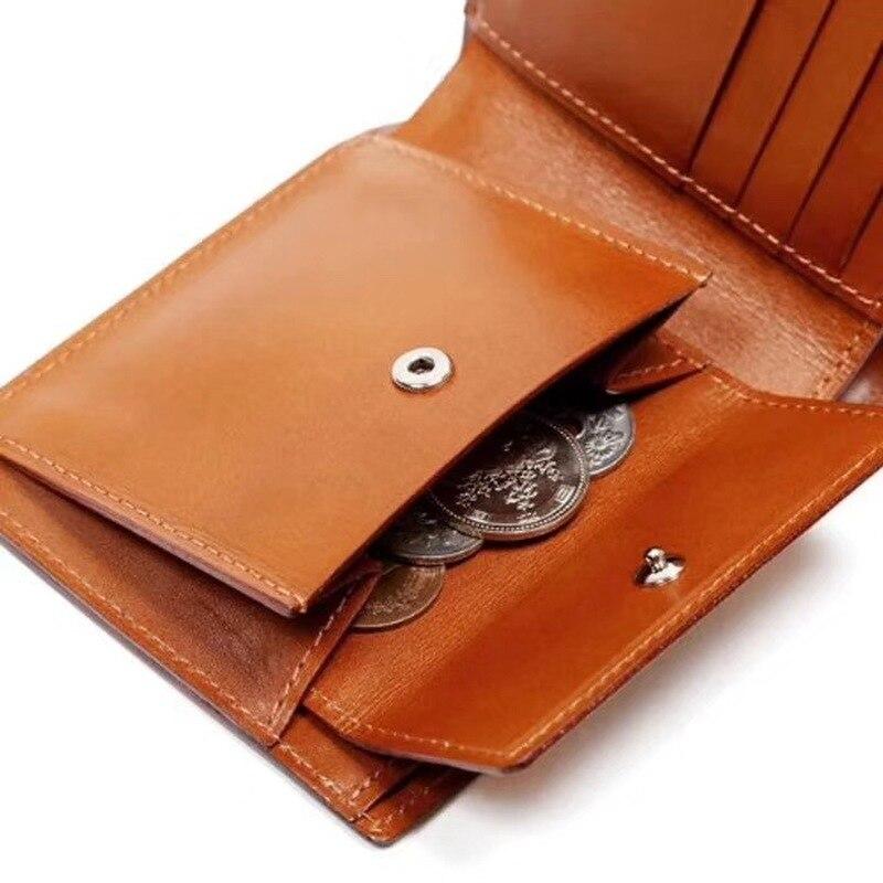 La règle de lame en acier du japon meurt le portefeuille en cuir de à deux volets avec l'étui en cuir - 5
