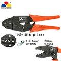 HS-1016 обжимные клещи 230 мм для неизолированных клемм зажим Европейский стиль емкость 0 5-16 мм2 20-5AWG ручные инструменты