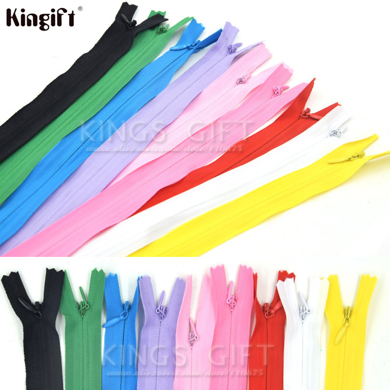 20 pcs//Pack KGS Nylon Zippers Colorful Zippers for Sewing Crafts 15 Inch