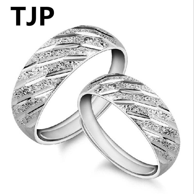 TJP мода метеорный поток Дизайн пару кольца ювелирные изделия Одежда высшего качества 925 Серебряное кольцо для Для женщин свадебные Юбилей а...