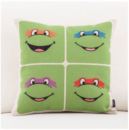 Herrlich Japan Cartoon Ninja Turtles Werfen Massager Dekorative Vintage Nickerchen Kissen Abdeckung Faser Flachs Emoji Kissen Fall Hause Bar Kind Geschenk Angenehm Bis Zum Gaumen Mutter & Kinder