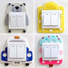 Cartoon Luminous Switch Cover Wall DIY Decoration Fluorescent Glow in the Dark Livingroom Kid Room Switch Protective Cover 1pc