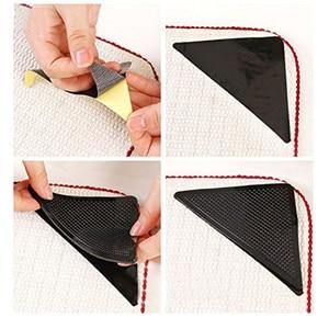 Image 3 - 4Pcs Home Floor Rug Carpet Mat Grippers Self adhesive Anti Slip Tri Sticker Reusable Washable Silicone Grip Car Perfume Pad