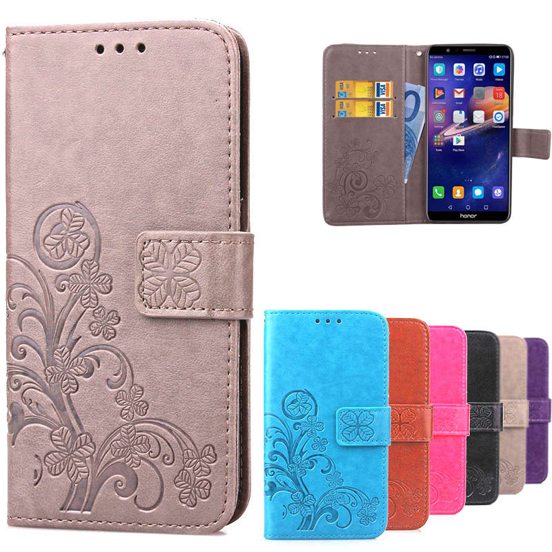 For Huawei Honor 7X Leather Flip Case For Huawei Honor 7X Flip Wallet Cover Fundas Huawei Honor 7X 7 X Card Slot Phone Cases