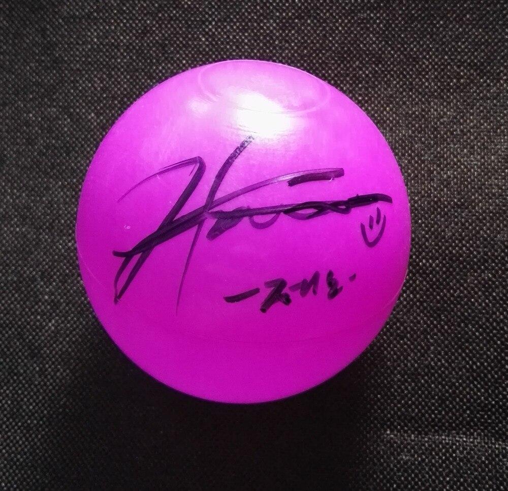 Signée à la main NCT RÊVE Jeno autographiée concert balle K-POP 122018