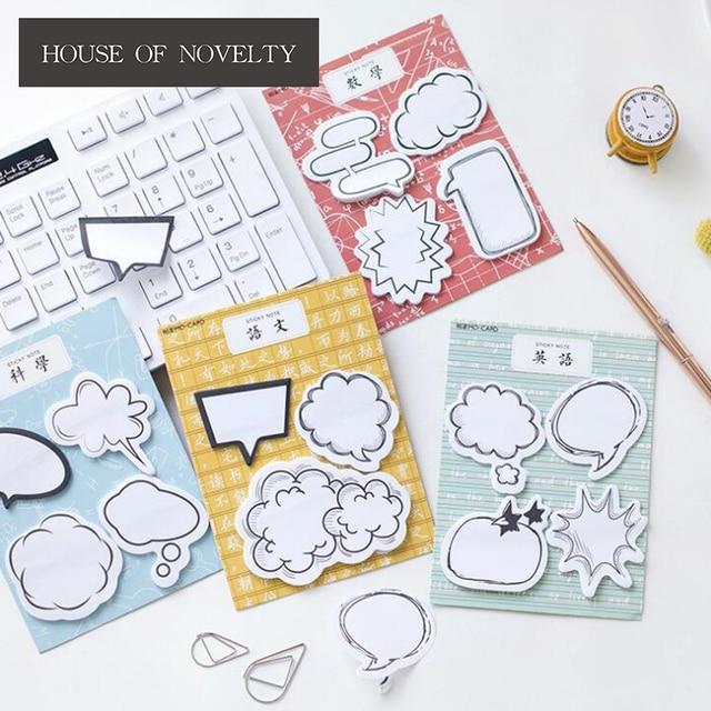 funny dialog box memo pad sticky notes escolar papelaria school supply bookmark label