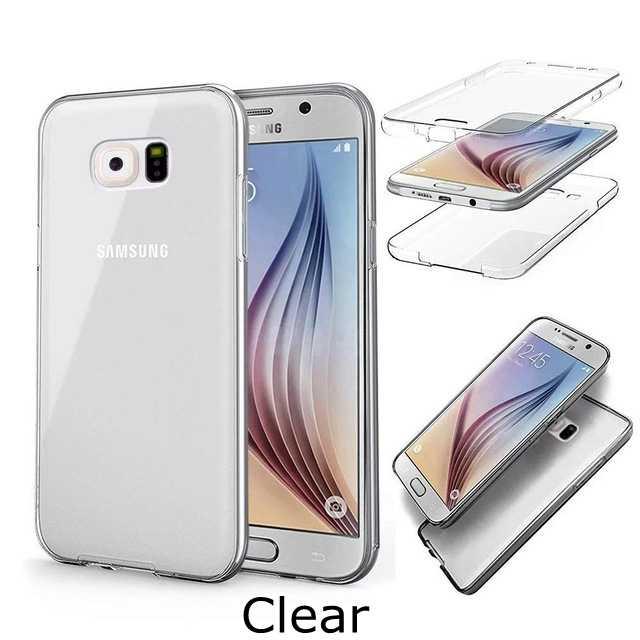 Đối với Samsung galaxy Lưu Ý 3 4 5 8 S10 S8 S9 Cộng Với S10e S7 s6 cạnh A7 A6 A8 2018 cộng với Mềm TPU Bìa 360 Bìa Đầy Đủ Cơ Thể Mềm Mại Trường Hợp
