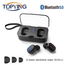 T18S Invisible Bluetooth Earphones 5.0 TWS Mini Wireless Earbuds Stereo Deep Bass Headset with charging box Portable 2019 new цены