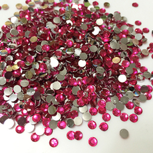 1000pcs/bag 2mm 3mm Size Light rose red 14 Facets Round Crystal Resin Rhinestone ss12 Flatback Phone Decor Nail Art Diamond 12