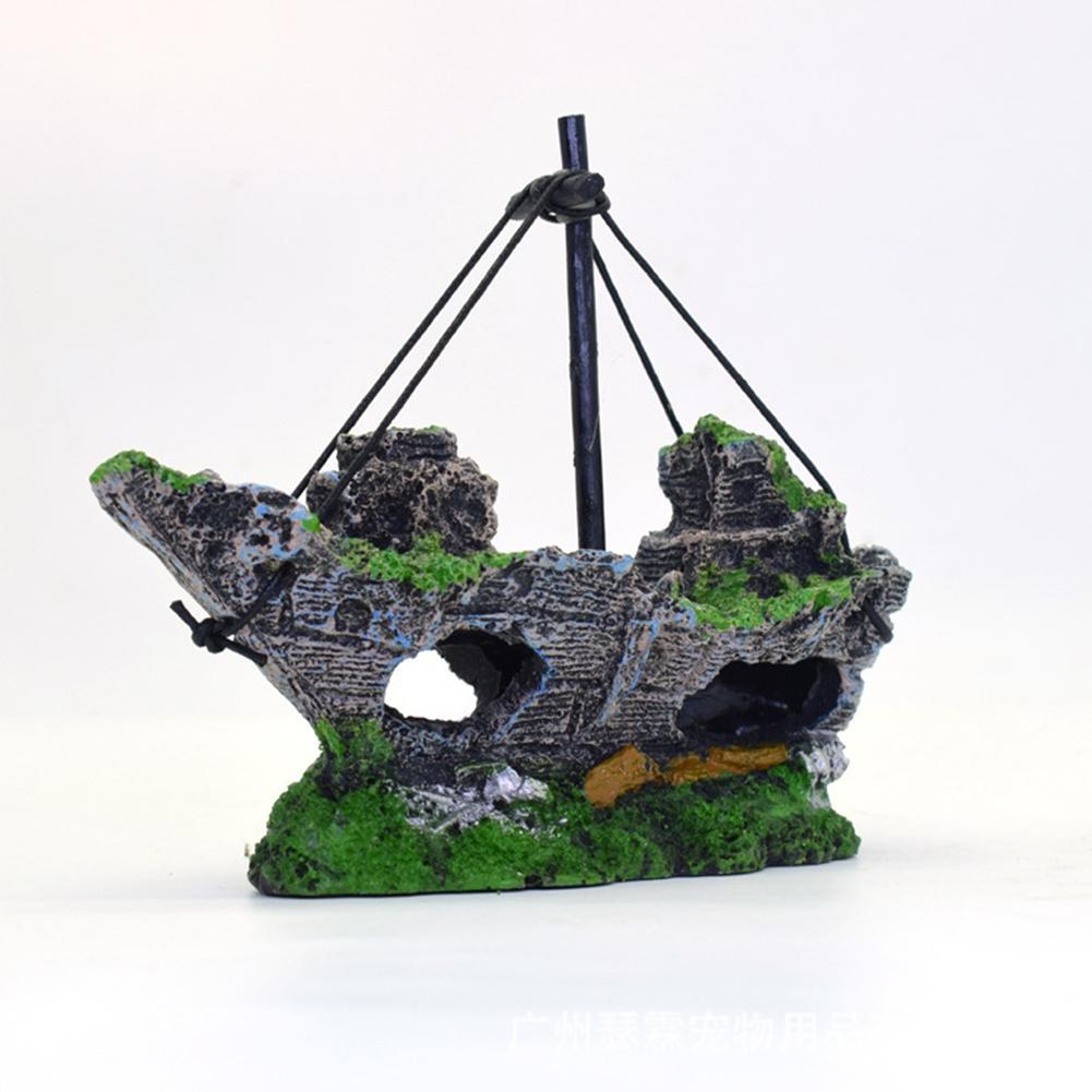 Adeeing Creative Pirate Ship Aquarium Ornament Fish Tank ...