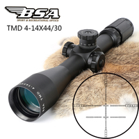 BSA TMD 4 14X44 First Focal Plane FFP Rifle Scopes Side Parallax Glass Etched Reticle Hunting Tactical Shooting Riflescope