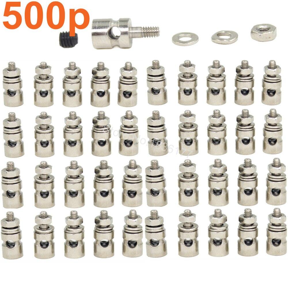 500pcs RC Airplane Linkage Stoppers Grub Screw Pushrod Connectors D2.1mm D1.8mm D1.3mm Replacement Part [vk] 553602 1 50 pin champ latch plug screw connectors