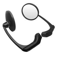 2x Круглый черный 10 мм Мото Аксессуары мотоциклетное зеркало заднего вида для Harley Prince круиз стиль мотоцикл заднего вида боковые зеркала