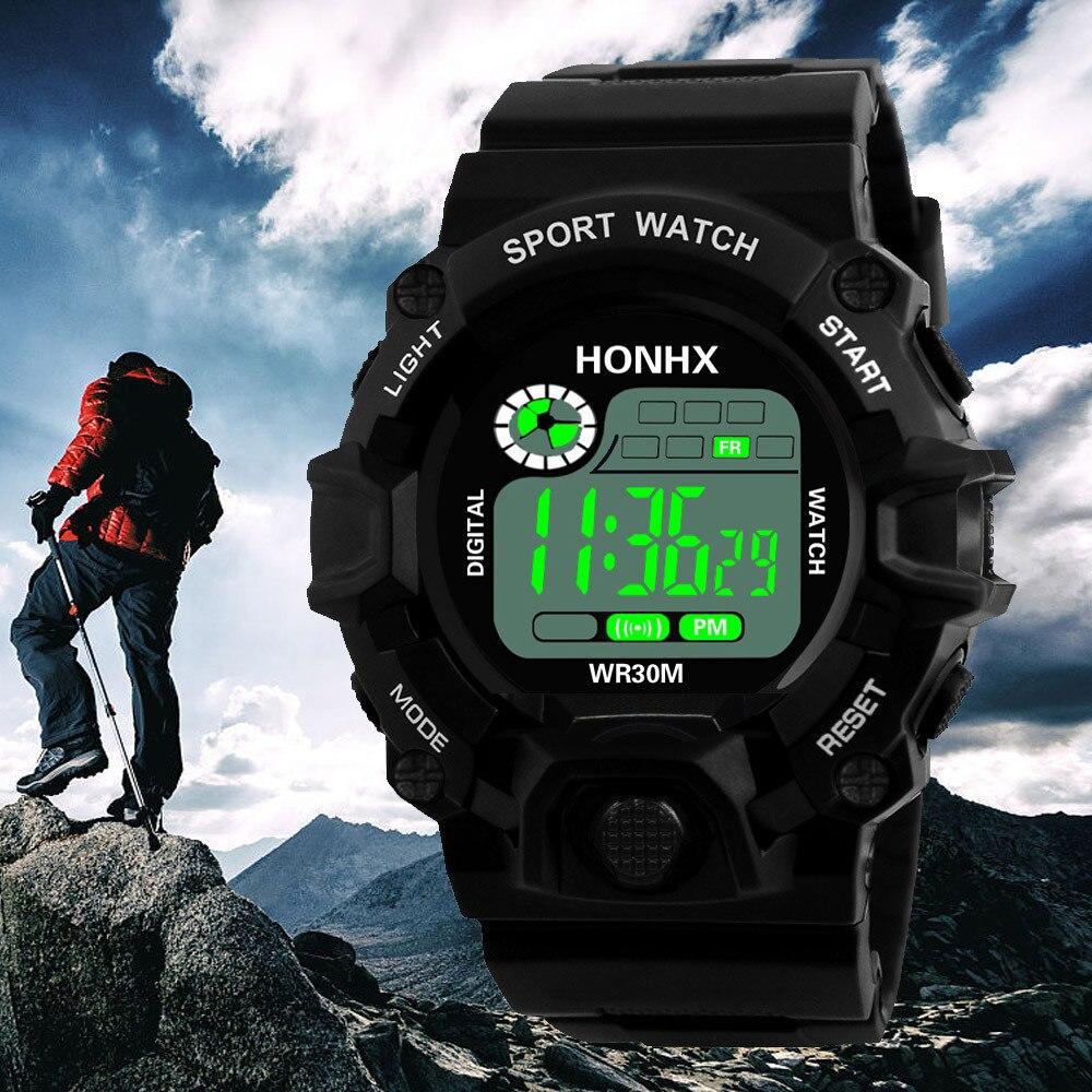 Men Watch Luxury Digital Watch Mens Analog Digital Military Army Sport Watches LED Waterproof Wrist Watch 2018 все цены