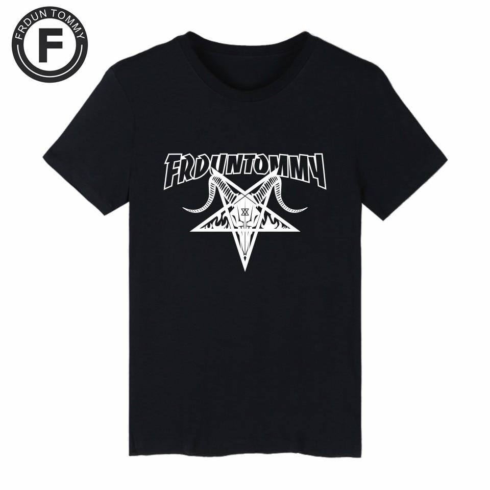 Frdun Tommy Satan Evil Skateboards T Shirt Men Hiphop Clothes skateboards shirt for girl Summer Street Wear Tee shirt Plus Size