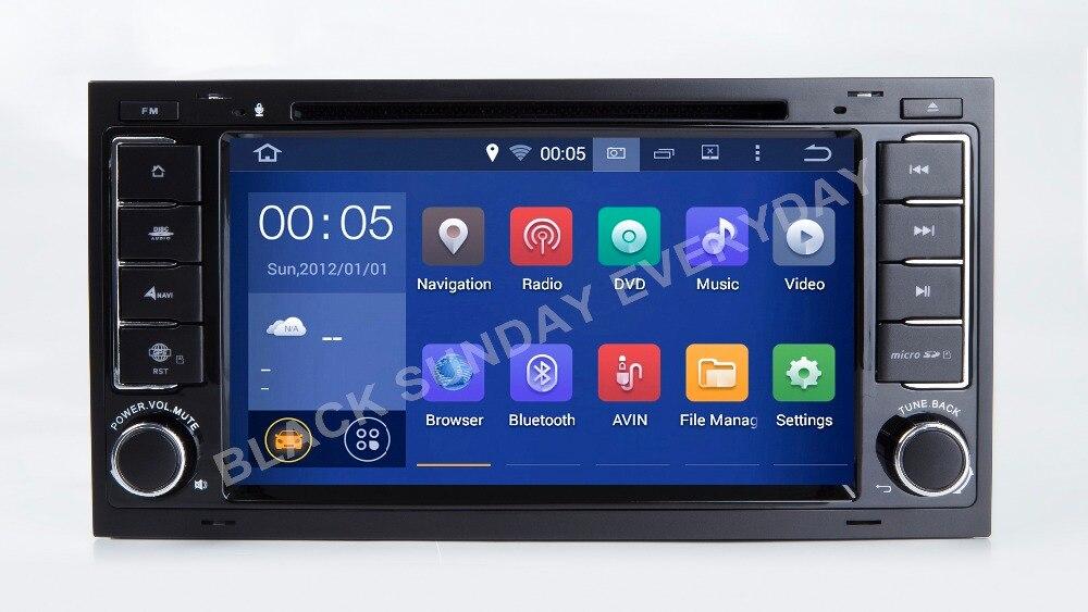 7 дюймовый Android 7.1.1 автомобильный dvd плеер мультимедиа для VW/Volkswagen/Touareg 2004 2011 с четырехъядерным радио Wifi GPS Навигация DVD