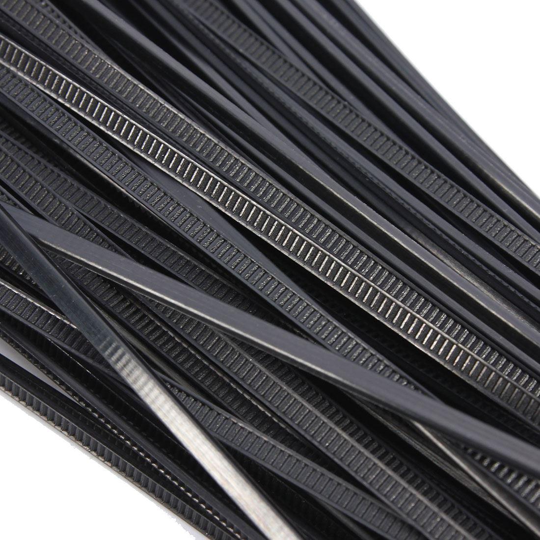 100 Stücke Nylon Kunststoff Zip Trim Wrap Kabel Kabelklettverschluss ...