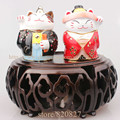 Japan couple cat treasure keepsake box Love BEJEWELED RHINESTONE CAT CRYSTAL ENAMEL HINGED TRINKET BOX (Pack of 2)