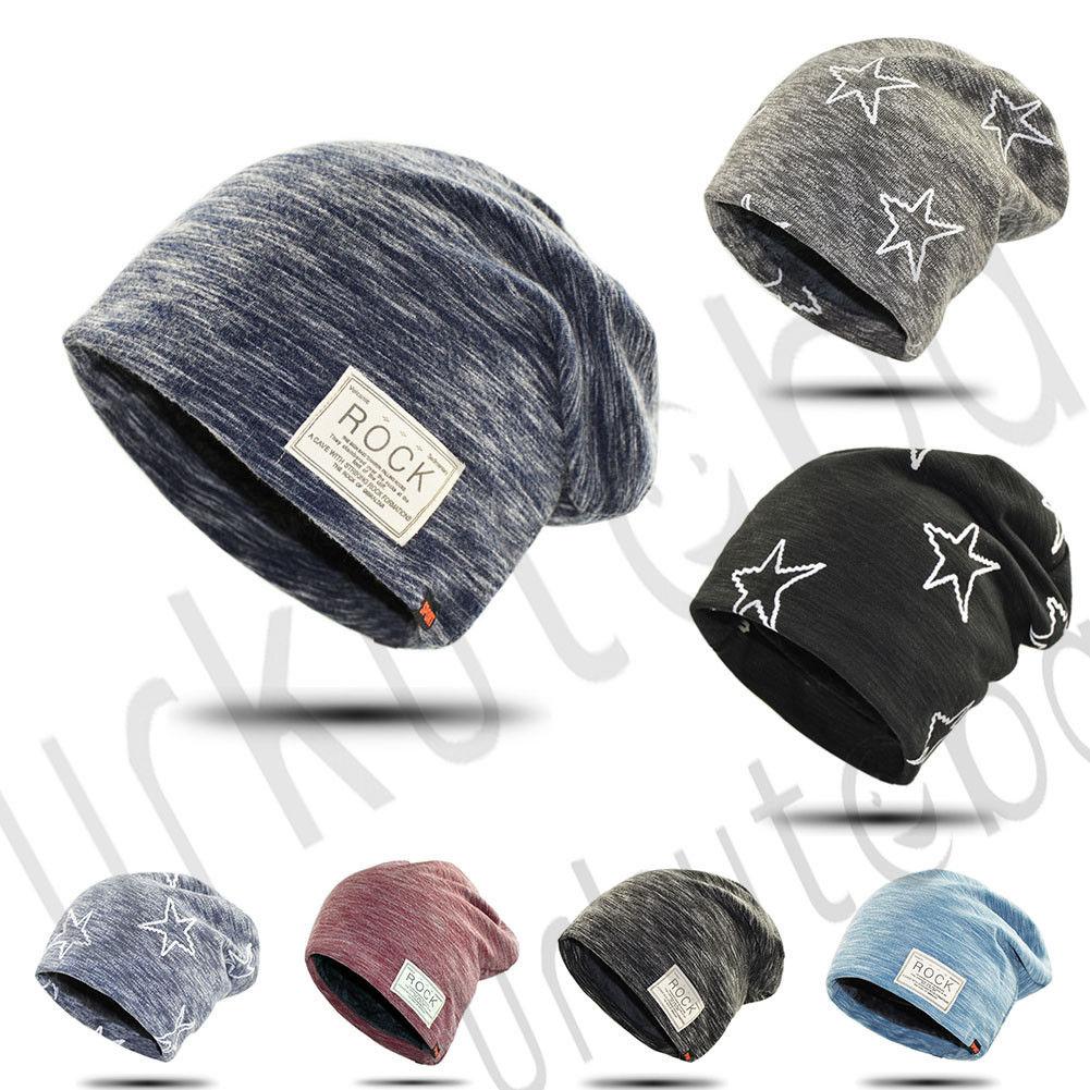Neueste Kollektion Von Neue Mode-rock & Sterne Muster Männer Frauen Hip-hop Gestrickte Beanie Hüte Kappe Schädel Herbst Und Winter Stricken Hut