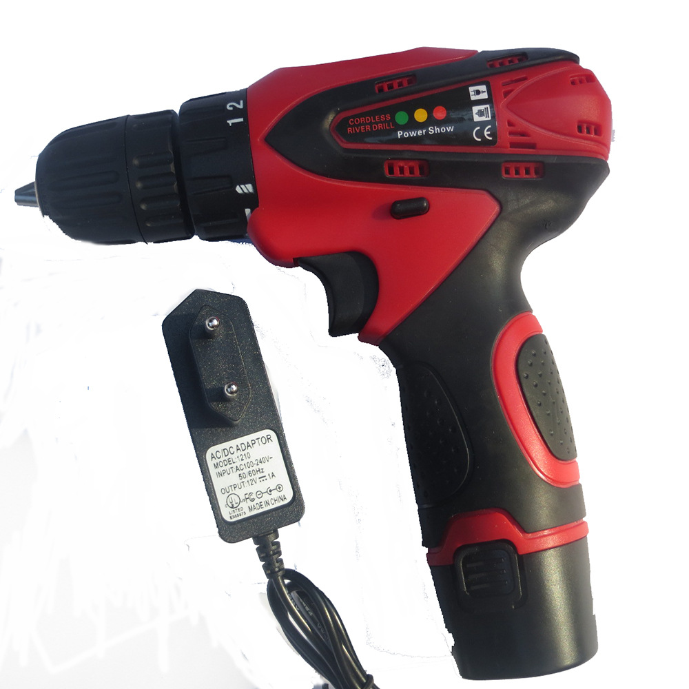 High Quality Lithium Rechargeable Battery EU Plug Electric Screwdriver 0-1400r/min Rotate Speed 2 Speed Mode Power Instrument