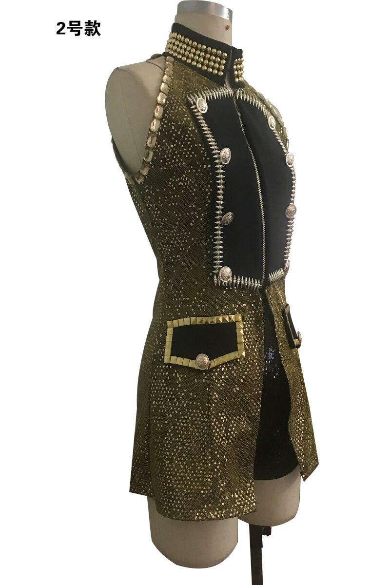 Ds Nouvelle Plomb Jazz Danse Costume Costumes Chorus Blingbling Chanteuse Sexy Excellente Équipe De Costumes RrwRp
