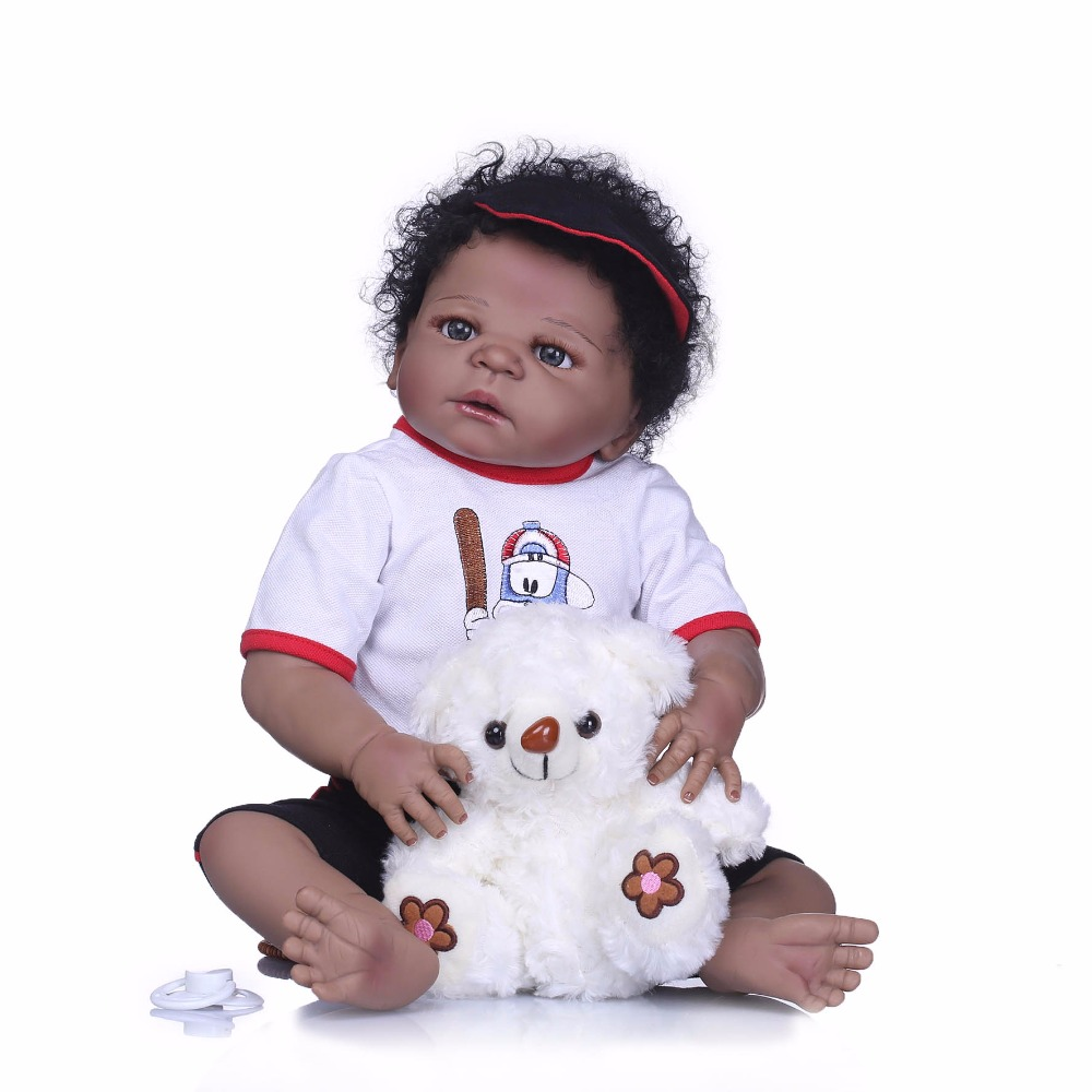 NPK 55cm Full Silicone Body Reborn boy Bebe Doll Toy Like Real 22inch Newborn Princess Babies Doll Bathe Toy Kid Gifts for girls