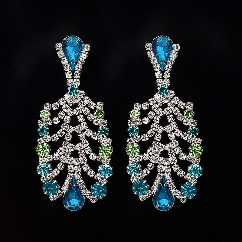 YFJEWE Women s Fashion Popular Mixed Color Rhinestone Earrings Vintage  Bottle Shape Drop Earrings Wholesale  E055-in Drop Earrings from Jewelry ... efe34b961ff9