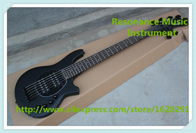 Haute qualité mat finition noire 6 cordes musicman bongo basse électrique guitars pour vente