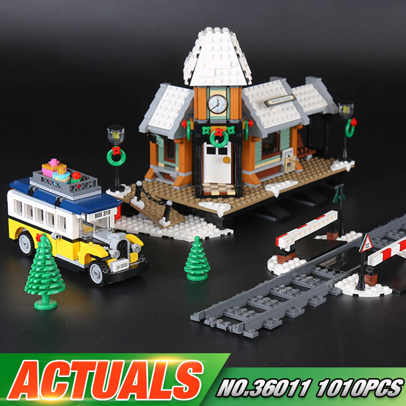 Lepin 36011 Genuine 1010Pcs Creative Series The Winter Village Station Set 10259 Building Blocks Bricks Toys As Christmas Gifts japan anime ultraman original bandai tamashii nations s h figuarts shf exclusive action figure ultraman suit ver 7 2