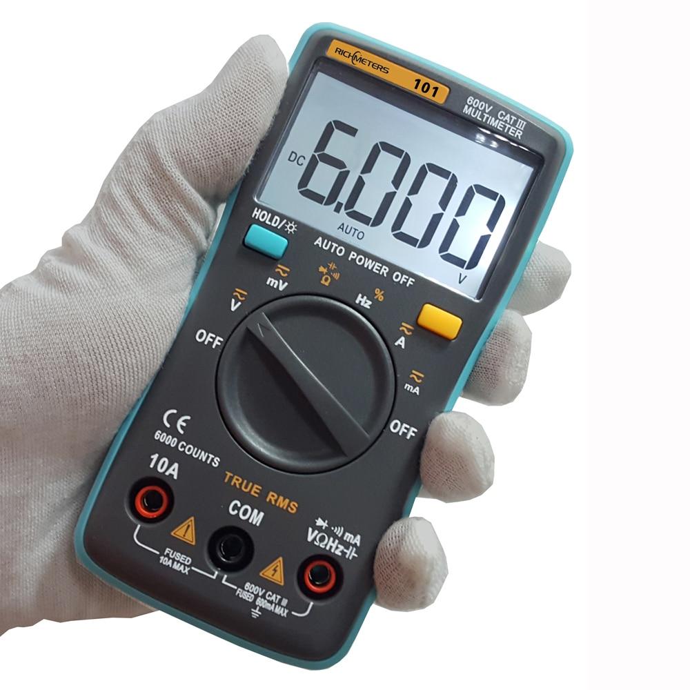 Digital Current Meter : Richmeters rm digital multimeter dmm dc ac voltage